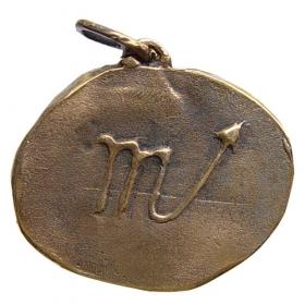 Bronzový prívesok znamenia zverokruhu Škorpión
