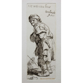 Medirytina Stojaci sedliak (kópia diela Rembrandta)