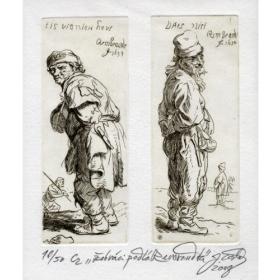 Medirytina Stojaci sedliaci (kópia diela Rembrandta)