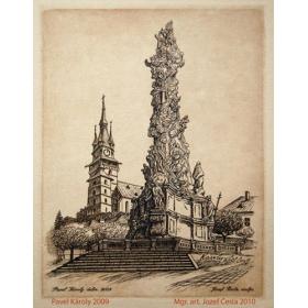 Medirytina s motívom Morový stĺp v Kremnici