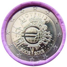 2 Euro Slovinsko 2012 - 10 rokov euromeny