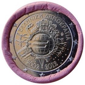 2 Euro Grécko 2012 - 10 rokov euromeny
