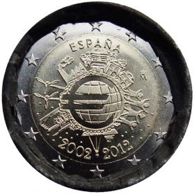2 Euro Španielsko 2012 - 10 rokov euromeny