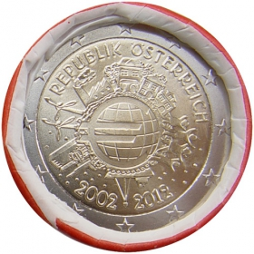 2 Euro Rakúsko 2012 - 10 rokov euromeny
