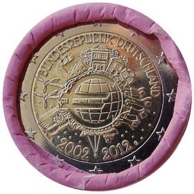 """2 Euro Nemecko """"G"""" 2012 - 10 rokov euromeny"""