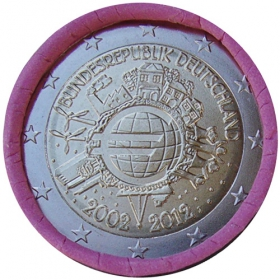 "2 Euro Nemecko ""J"" 2012 - 10 rokov euromeny"