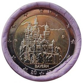 """2 Euro Nemecko """"D"""" 2012 - Bavorsko: Zámok Neuschwanstein"""
