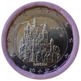 """2 Euro Nemecko """"G"""" 2012 - Bavorsko: Zámok Neuschwanstein"""