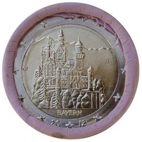 "2 Euro Nemecko ""J"" 2012 - Bavorsko: Zámok Neuschwanstein"