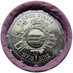 2 Euro / 2012 - Cyprus - 10 years of Euro currency