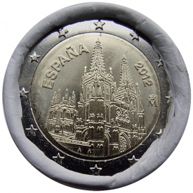 2 Euro Španielsko 2012 - Katedrála Burgos