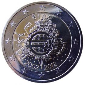 2 Euro / 2012 - Írsko - 10 rokov euromeny