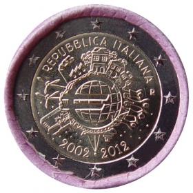 2 Euro Taliansko 2012 - 10 rokov euromeny
