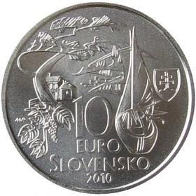 10 Euro / 2010 - Martin Kukučín - Bežná kvalita