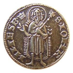 Medailička s motívom Kremnického dukátu - Patina