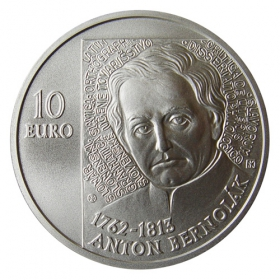10 Eur 2012 - 250. výročie narodenia Antona Bernoláka - Bežná kvalita