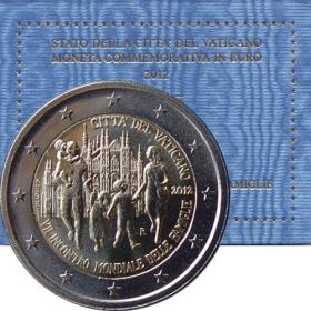 2 Euro / 2012 - Vatikán - Siedme svetové stretnutie rodín