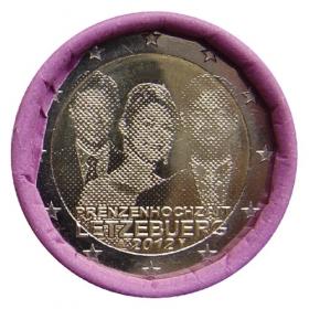 2 Euro Luxembursko 2012 - Svadba princa Guillauma s grófkou Stéphanie