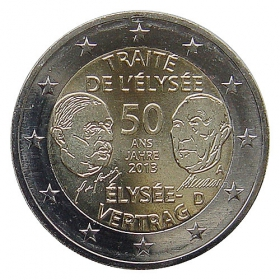 2 Euro / 2013 - Germany - Élysée Treaty 'A'