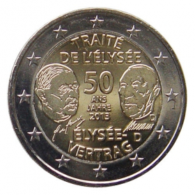 2 Euro / 2013 - Germany - Élysée Treaty 'D'