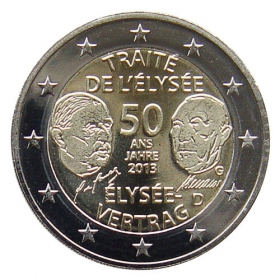 2 Euro / 2013 - Germany - Élysée Treaty 'G'