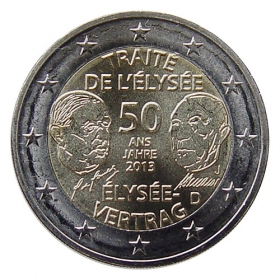 2 Euro / 2013 - Germany - Élysée Treaty 'J'