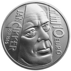 10 Eur 2011 - 100. výročie narodenia Jána Cikkera - Bežná kvalita