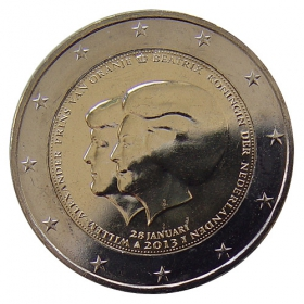 2 Euro / 2013 - Netherland - Double Portait: Queen Beatrix & Prince Willem Alexander