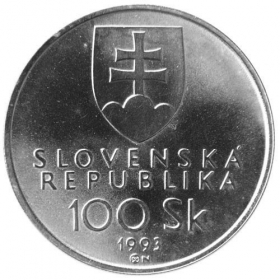 100 Sk / 1993 - Founding of the Slovak republic - Standard quality