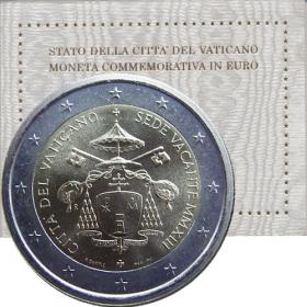 2 Euro Vatikán 2013 - Sede Vacante