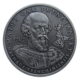 Silver medal Matus Cak of Trencin - Patinated
