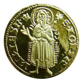 Medaila s motívom Kremnického dukátu s kartou - Lesk