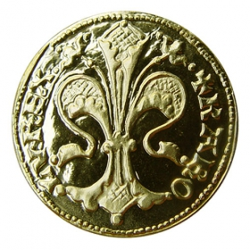 Medailička s kartou - motív Kremnického dukátu - Lesk