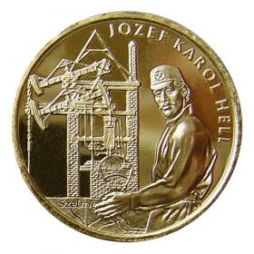 Medaila s kartou Jozef Karol Hell - Lesk