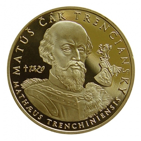 Medaila s kartou Matúš Čák Trenčiansky - Lesk