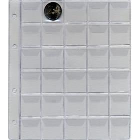 Coins album´s sheet: Format A5: 30 windows