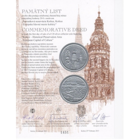 Commemorative deed - Kosice