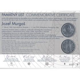 Pamätný list - Jozef Murgaš